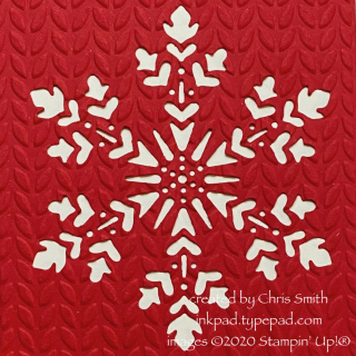 Snowflake Wishes close up from card by Chris Smith with Stampin' Up products