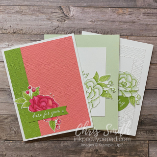 Stampin' Up So Much Love card trio by Chris Smith at inkpad.typepad.com