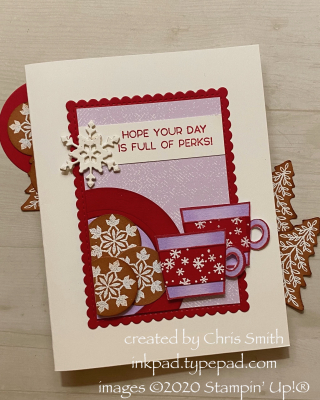 CC818 Snowflake Perks  Stampin Up Card using Press On and Snowflake Wishes by Chris Smith at inkpad.typepad.com