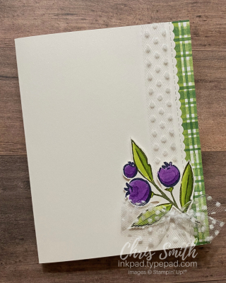 Berry Blessings card 2 with Dotted ribbon card by Chris Smith at inkpad.typeapad.com