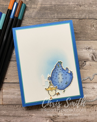 Hey Birthday Chick Pop-up outside stampin up card by Chris Smith