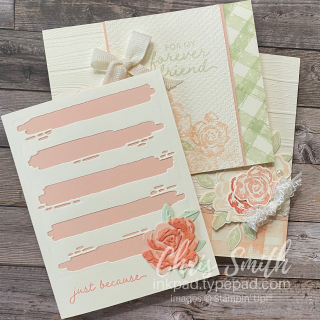 Brushed Blooms Trio of Stampin' Up! cards by Chris Smith