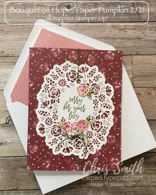Paper Pumpkin Bouquet of Hope Doily alternative