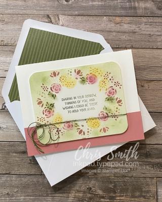 Paper Pumpkin Bouquet of Hope Stencil card