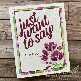 Art gallery Berry Delightful Stampin UP card by CHris SMith