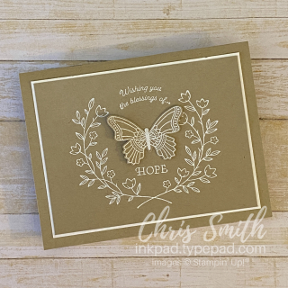 Gift of Hope  Butterfly Gala Stampin Up card by Chris Smith  Easter  sympathy