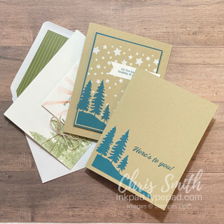 PP Here's To You Trio of stampin up paper pumpkin cards by Chris Smith