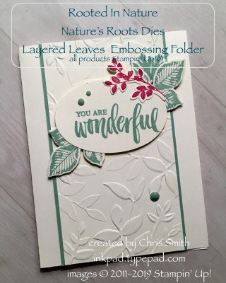 Rooted in nature handmade Stampin' Up Card
