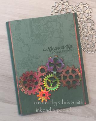 Geared Up metallic card