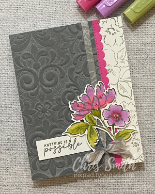 BLENDS VIEW CC847 Hand-Penned Petals handmade Stampin Up card by Chris Smith
