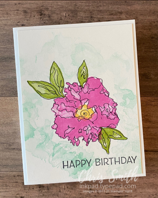 Apw Artistically Inked handmade Stampin UP card by Chris Smith