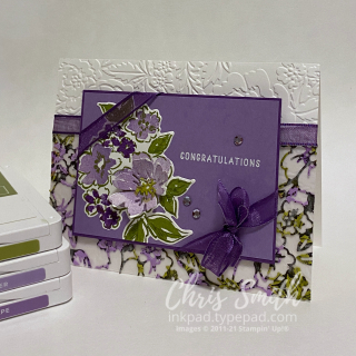 Hand-Penned Petals Stampin up congratulations card CC859