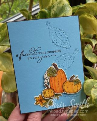 CC859 Pretty Pumpkins Friends card