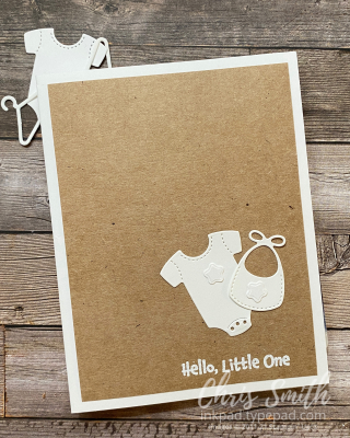 All For Baby on Kraft Stampin Up card by Chris Smith