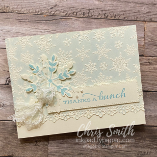 Snowflake Wishes with Winter Snow embossing folder