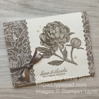 Prized Peony stampin up friendship card