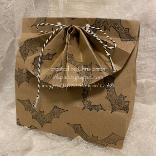 Lacey Bat fan fold bag at inkpad.typepad.com Halloween Night Magic