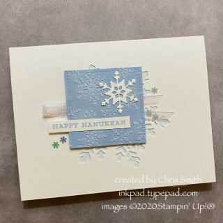 AWOW Snowflake Wishes Hanukkah card by Chris Smith with Stampin' Up Products