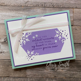 Stampin Up Snowflake Wishes Highland Heather card by Chris Smith at inkpad.typepad.com