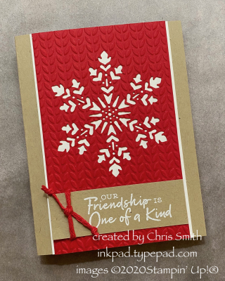 AWOW Snowflake Wishes Sweater Knit card by Chris Smith with Stampin' Up! products