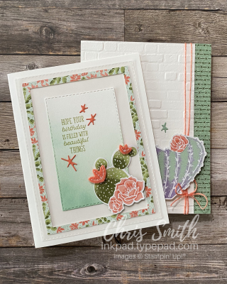 Stampin Up Flowering Cactus card Pair by Chris Smith
