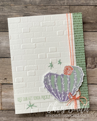 Stampin Up Flowering Cactus Prickly card by Chris Smith
