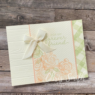 Dry Embossed Brushed Blossoms stampin up card by Chris Smith