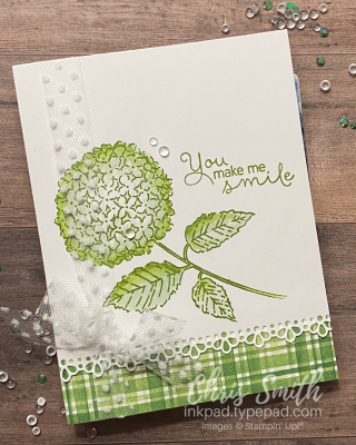 Green Hydrangea Hill Stampin Up card by Chris Smith