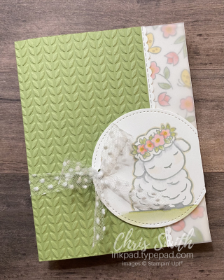 Springtime Joy lamb stampin up card by Chris Smith
