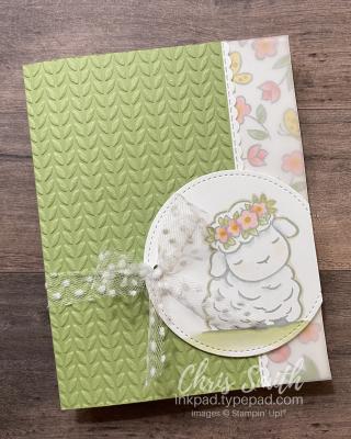 Springtime Joy lamb stampin up card by Chris Smith