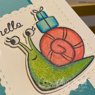Wink Stella Snailed It Close up Stampin' up card image Chris Smith