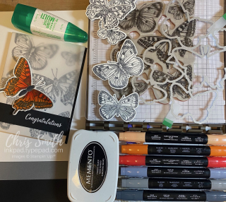 Stampin Up Butterfly Brilliance workspace photo