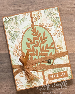 Forever Fern CC834 Stampin Up Suspender Bow Card by Chris Smith
