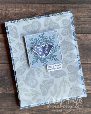 Floating and Fluttering Itty Bitty Greetings stampin up card