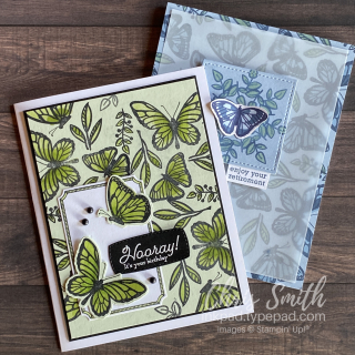 Pair Floating and Fluttering Stampin up cards
