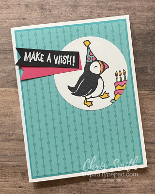 Party Puffins Stampin Up Birthday card by Chris Smith