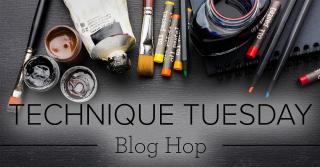 Technique Tuesday blog hop image