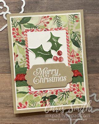 Painted Season Suite perfectly plaid stampin up Christmas card
