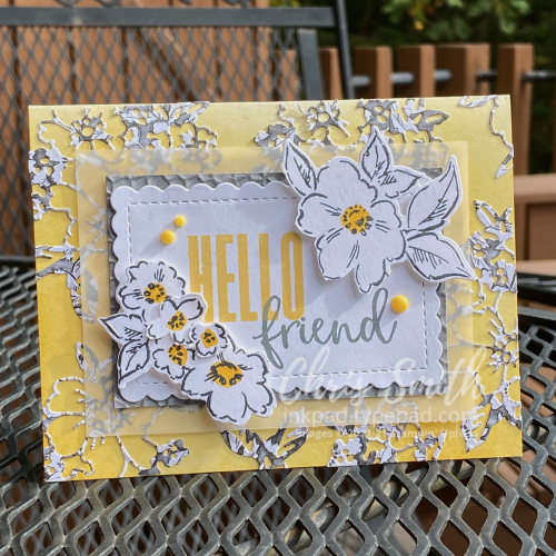 Beautifully Penned Die cut Stampin Up Hand-Penned card in 2021 Pantone colors
