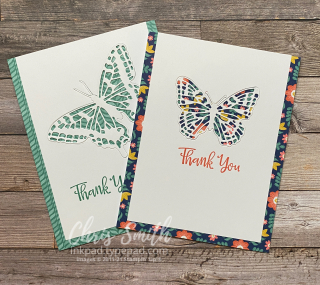 Peaceful Moments Stampin UP Thank you Cards