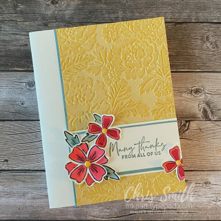 CC858 Flowers of Friendship Stampin Up Thank you card
