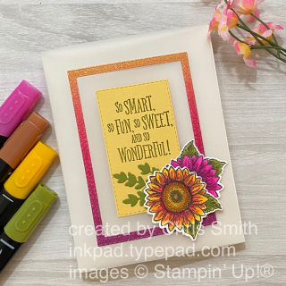 Celebrate Sunflowers a grand kid stampn up card