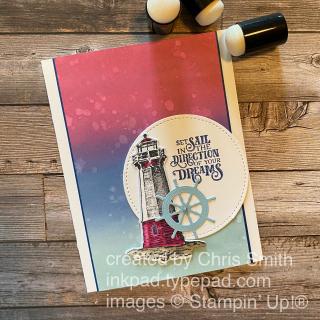 Sailing HOme stampin up card
