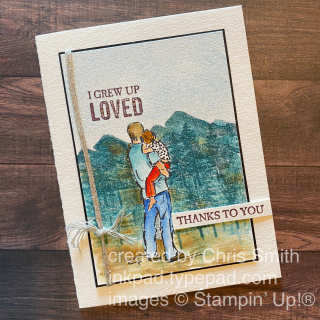 A good man fathers day stampin up card