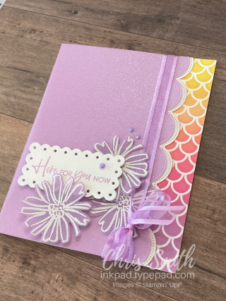 Angled Color & Contour handmade Stampin Up card by Chris Smith