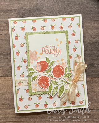 Sweet as a Peach bundle Stampin' Up! card by Chris Smith