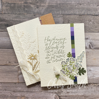 Beauty of tomorrow  pair of Stampin Up Cards for AWOW