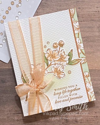 Forever Blossom Stampin UP Wedding card by Chris Smith