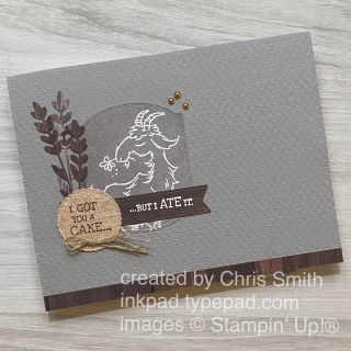 Way to Goat Stampn up birthday card