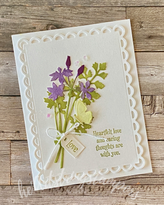 Hss Quiet Meadow Scalloped Contours handmade Stampin Up card